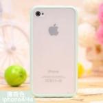 เคสแข็ง ขอบซิลิโคนขุ่น สีมินท์ (ไอโฟน4/4s)
