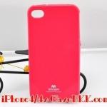 เคสไอโฟน4 /4s Mercury JELLY สีชมพูเข้ม