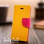 เคสไอโฟน4/4s เคสเปิดข้าง Mercury สีเหลือง