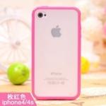 iPhone4/4s เคสแข็งขอบซิลิโคนสีบานเย็น