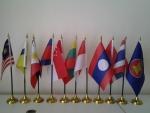 ธงอาเซียนตั้งโต๊ะชุดพลาสติก