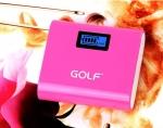 แบตสำรอง Golf GF-LCD02 5200 mAh สีชมพู