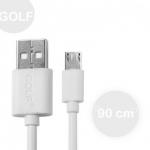 สายชาร์จ Micro USB  ยี่ห้อ GOLF สีขาว