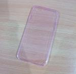 เคสไอโฟน 6 เคสยางสีชมพูใส