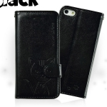 เคสไอโฟน 6 พลัส เคสฝาพับ Domicat สีดำ
