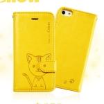 เคสไอโฟน 6 พลัส เคสฝาพับ Domicat สีเหลือง