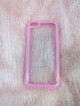 เคสไอโฟน 5c ขอบยางหลังใส สีชมพู