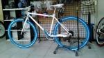 จักรยานไฮบริด TrinX รุ่น P260 สีขาว/ฟ้า