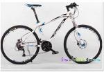 (หมด)จักรยานเสือภูเขา Twitter รุ่น TW4900 สีขาวฟ้า
