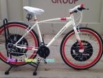 (หมด)จักรยานไฮบริด Chevrolet รุ่น R8 สีขาว