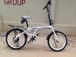 (หมด)จักรยานพับได้ Coyote รุ่น Black hawk ล้อ 20 นิ้ว สีขาว
