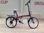 (หมด)จักรยานพับได้ Coyote รุ่น Black hawk ล้อ 20 นิ้ว สีแดง