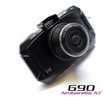 กล้องติดรถยนต์ G90 แท้ ชิพ Ambarella A7 จอ 2.7 นิ้ว 1080P Full HD เลนส์ Wide 170