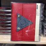 ออเดอร์ สมุดหนังทำมือ ขนาดA5 สีแดง