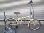 (หมด) จักรยานพับได้ WCI รุ่น Holiday ล้อ 20 นิ้ว สีครีม