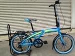 จักรยานพับได้ Coyote รุ่น Plane ล้อ 20 นิ้ว สีฟ้า