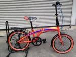 จักรยานพับได้ Coyote รุ่น Plane ล้อ 20 นิ้ว สีส้ม