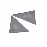 Project ชุดฉากสามเหลี่ยม ขนาด 12 นิ้ว (2 ชิ้น/ชุด)