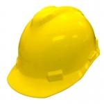 หมวกนิรภัย Safety Cap พร้อมสายรัดคาง (สีเหลือง)