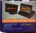 TFT LCD จอติดรถยนต์ มอนิเตอร์ แบบพับ จอ4.3 นิ้ว สำหรับต่อกล้องมองด้านหน้า หรือกล
