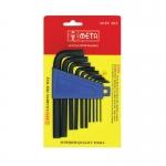 META ประแจแอล ขนาด1.5-10มิล 10ตัว/ชุด มาตราฐาน ISO 9002