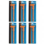เวอร์เนีย พลาสติก 6นิ้ว 1/128(แบ่งร้อย) 6ตัว/กล่อง