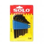 Soloประแจแอล หกเหลี่ยม 10 ชิ้น/ชุด ร่น 902BMM (สีดำ)