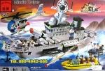 LEGO จีน ชุดเรือรบ เรือลาดตระเวณติดอาวุธ พลเรือ โจรสลัด เฮลิคอปเตอร์ ชุดใหญ่ ราค