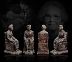 พระบูชาสมเด็จย่า เนื้อปูนอาบทองแดง ขนาด 5 นิ้ว พระชนมายุ 84 พรรษา พ.ศ 2527 เลขกำ