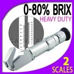 เครื่องวัดความหวาน น้ำตาล (Brix) ในผลไม้ เครื่องดื่ม น้ำเชื่อม ช่วงค่า 0-80% Bri