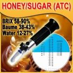 เครื่องวัดความหวาน น้ำตาล ในน้ำเชื่อม น้ำผึ้ง วัดความชื้นน้ำผึ้ง ช่วงการวัด 58-9