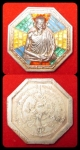 เหรียญแปดเหลี่ยมหลวงพ่อเกษม เขมโก สำนักสุสานไตรลักษณ์ รุ่นคุ้มภัยแปดทิศ เนื้อเงิ