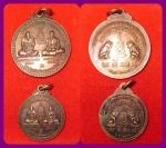เหรียญสองเกจิ หลวงพ่อชาญ วัดบางบ่อ ปี ๒๕๕๕ พิมพ์ใหญ่+เล็ก