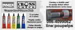 ฝ่ายขาย ปูเป้0864099062 line:poupelps สินค้าDykem Cross check กาวทำเครื่องหมาย เ