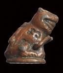 เสือหล่อหลวงพ่อปาน วัดบางเหี้ย (วัดคลองด่าน) จ.สมุทรปราการ เนื้อตะกั่วอาบทองแดง
