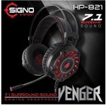 Signo E-Sport HP-821 ระบบเสียง 7.1 Surround Sound Gamming Headphone