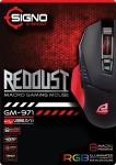 SIGNO E-Sport REDDUST Macro Gaming Mouse รุ่น GM-971 (Black)