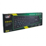 คีย์บอร์ด USB Keyboard MD-TECH (KB-671) Black
