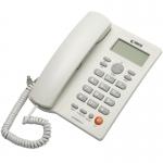 REACH โทรศัพท์บ้าน รุ่นKX-T3095 ชนิด ตั้งโต๊ะ หรือแขวน ผนัง สีขาว