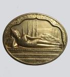 เหรียญพระนอนวัดโพธิ์ หลัง ภปร. ครบ 5 รอบ ปี2530  (N44732)