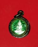 12011 เหรียญเม็ดกระดุม หลวงพ่อโต วัดหลักสี หลังพระราหู เนื้อเงิน เลี่ยมเดิมจากวั