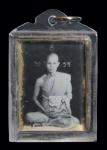 รูปหลวงปู่ถม  วัดเชิงท่า จ. ลพบุรี ยุคแรก อัดกระจกเลี่ยมกันน้ำ  (N45458)