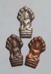 เหรียญพระปรกใบมะขามเนื้อเงิน นวะ ทองแดง  (N46196)