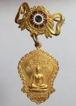 เหรียญเข็มกลัดหลวงพ่อดำ วัดนางพิมพ์ กะไหล่ทอง สุพรรณบุรี( N46553)