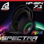 Signo E-Sport Headset HP-824 SPECTAR RGB 7.1 Surround Sound Gaming ประกัน 2ปี