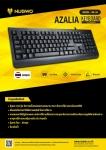 nubwo keyboard  AZALIA NK-25 Waterproof  104-Key full-size