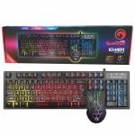 Marvo KM409 ชุดมีไฟ คีบอดไฟทะลุตัวหนังสือ Scorpion Gaming และเมาส์6ปุ่มมีไฟ7สี U