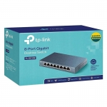 TP-LINK TL-SG108 8-Port Gigabit Desktop Switch 8 ช่อง แบบ10/100/1000 Mbps(Black)