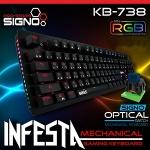 SIGNO Mini RGB Mechanical Gaming Keyboard รุ่น INFESTA KB-738 (Optical Blue Swit