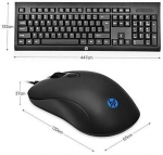 HP Keyboard พร้อม Mose High Performance Gaming Combo KM100 สวยๆทนๆ (BLACK)